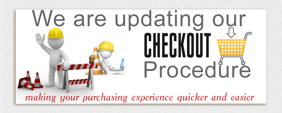 We are currently updating our store checkout procedure.